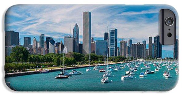 City Scenes iPhone 6s Case - Chicago Skyline Daytime Panoramic by Adam Romanowicz