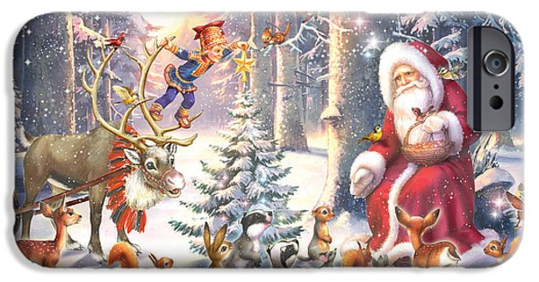 Elf iPhone 6s Case - Christmas In The Forest by Zorina Baldescu