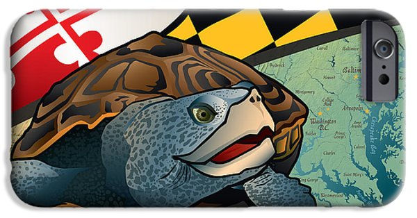 Diamondback iPhone 6s Case - Citizen Terrapin Maryland's Turtle by Joe Barsin