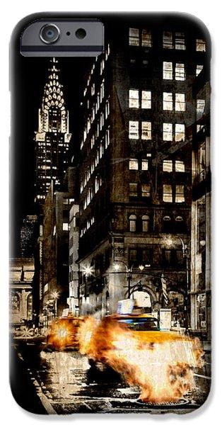 Chrysler Building iPhone 6s Case - City Streets  by Az Jackson