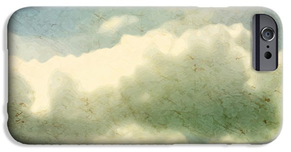 Space iPhone 6s Case - Clouds. Grungy Vector Illustration by Vik Y