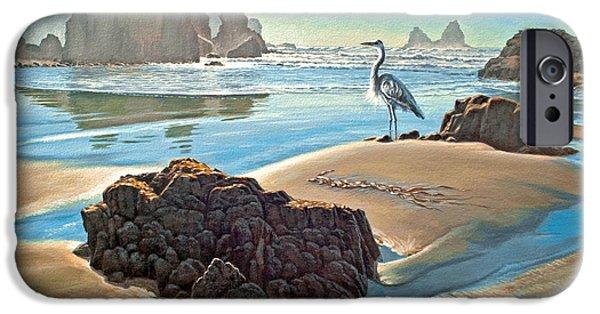 Heron iPhone 6s Case - Coast With Great Blue Heron by Paul Krapf