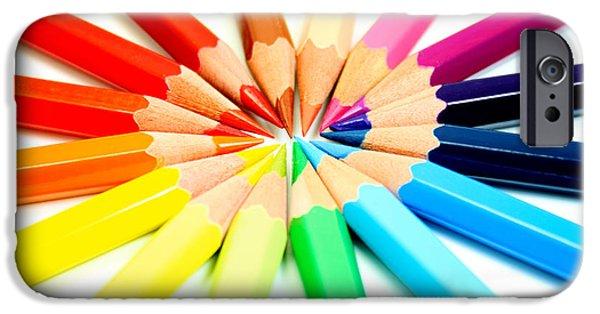 Color Pencil iPhone 6s Case - Colored Pencils by Michael Tompsett