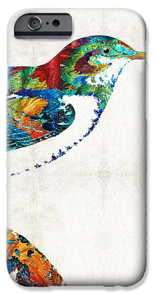 Chickadee iPhone 6s Case - Colorful Bird Art - Sweet Song - By Sharon Cummings by Sharon Cummings