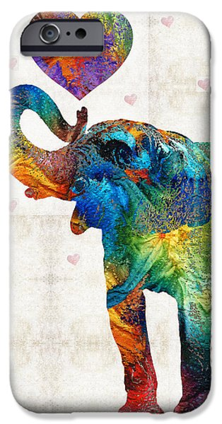 Colorful Elephant Art - Elovephant - By Sharon Cummings IPhone 6s Case