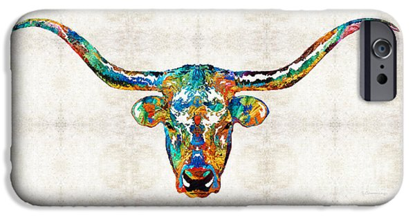 Colorful Longhorn Art By Sharon Cummings IPhone 6s Case
