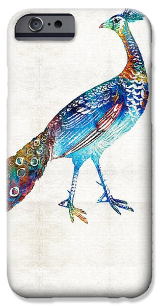 Peacock iPhone 6s Case - Colorful Peacock Art By Sharon Cummings by Sharon Cummings