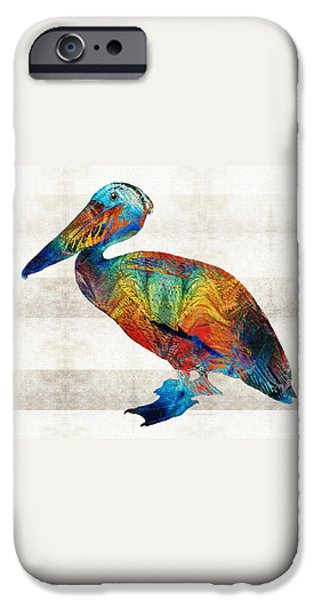 Pelican iPhone 6s Case - Colorful Pelican Art By Sharon Cummings by Sharon Cummings