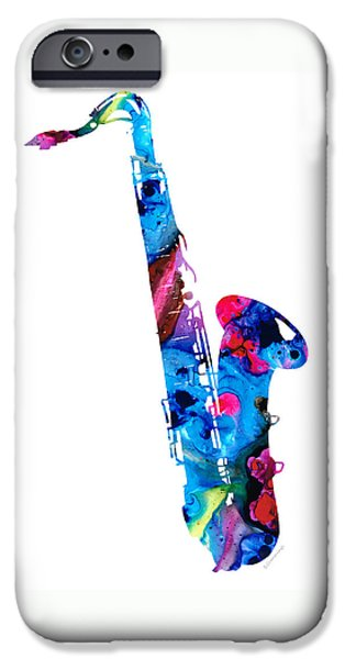 Music iPhone 6s Case - Colorful Saxophone 2 By Sharon Cummings by Sharon Cummings