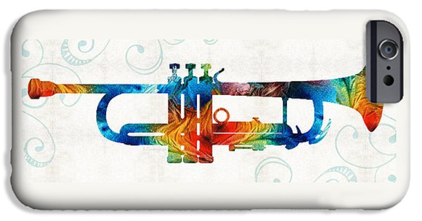 Colorful Trumpet Art Color Fusion By Sharon Cummings IPhone 6s Case by Sharon Cummings