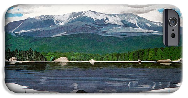 Loon iPhone 6s Case - Common Loon On Togue Pond By Mount Katahdin by Stella Sherman