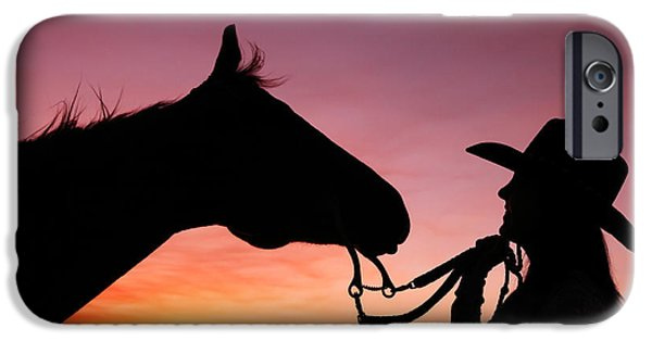 Horse iPhone 6s Case - Cowgirl Sunset by Todd Klassy