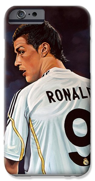 Football iPhone 6s Case - Cristiano Ronaldo by Paul Meijering