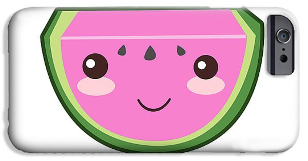 Cute Watermelon Illustration IPhone 6s Case by Pati Photography
