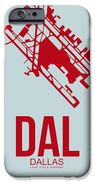 Dallas iPhone 6s Case - Dal Dallas Airport Poster 4 by Naxart Studio