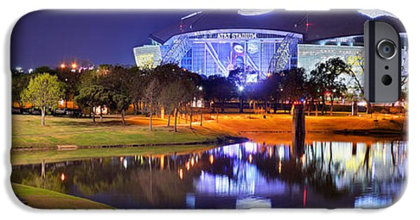 Dallas Cowboys Stadium At Night Att Arlington Texas Panoramic Photo IPhone 6s Case