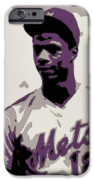 New York Mets iPhone 6s Case - Darryl Strawberry Poster Art by Florian Rodarte