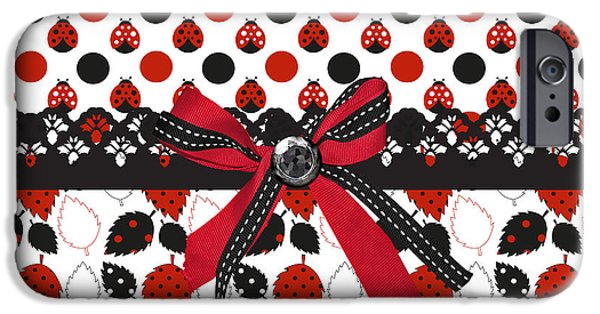Dazzling Ladybugs  IPhone 6s Case by Debra  Miller