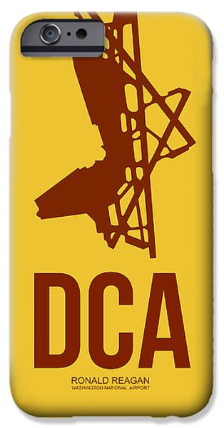 Washington D.c iPhone 6s Case - Dca Washington Airport Poster 3 by Naxart Studio