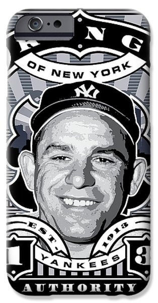 Dcla Yogi Berra Kings Of New York Stamp Artwork IPhone 6s Case by David Cook Los Angeles