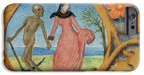 Death Leads A Lady By The Hand IPhone Case by British Library