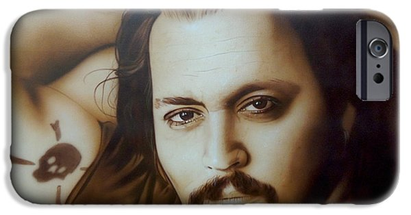 Johnny Depp - ' Depp II ' IPhone 6s Case by Christian Chapman Art