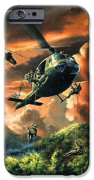 Helicopter iPhone 6s Case - Descent Into The A Shau Valley by Randy Green