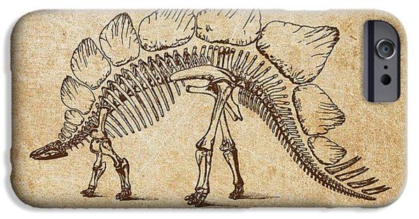 Dinosaur Stegosaurus Ungulatus IPhone 6s Case by Aged Pixel