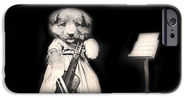 Violin iPhone 6s Case - Dog Serenade by Mountain Dreams
