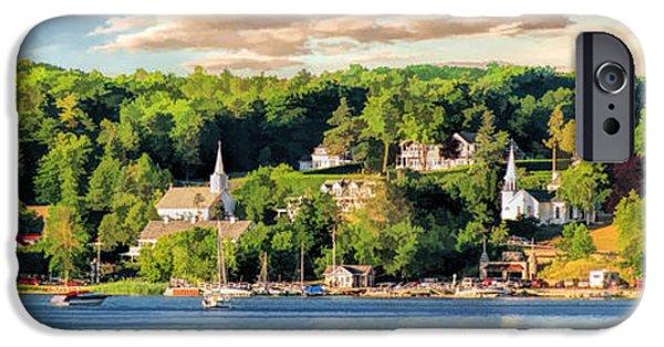 Door County Ephraim Harbor Sunset  Panorama IPhone 6s Case by Christopher Arndt