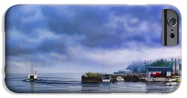 Door County Gills Rock Morning Catch Panorama IPhone 6s Case by Christopher Arndt