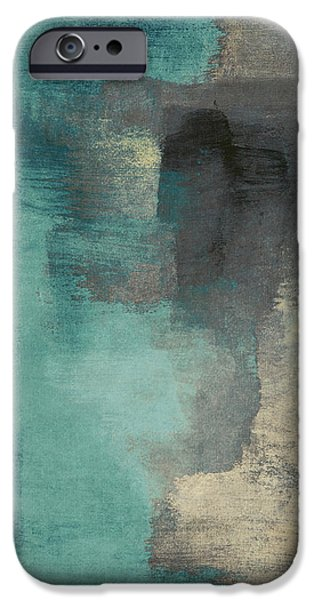 Contemporary iPhone 6s Case - Downtown Blue Rain I by Lanie Loreth