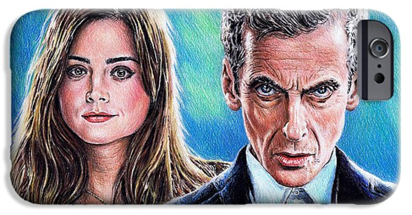Coloured Pencil iPhone 6s Case - Dr Who And Clara by Andrew Read