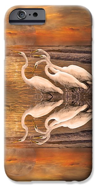 Dreaming Of Egrets By The Sea Reflection IPhone 6s Case by Betsy Knapp