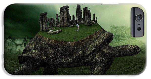 Reptiles iPhone 6s Case - Druid Golf by Marian Voicu