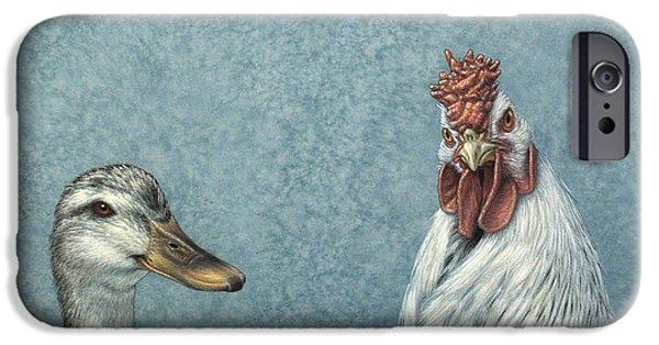Duck iPhone 6s Case - Duck Chicken by James W Johnson