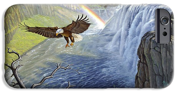 Eagle iPhone 6s Case - Eagle-mesa Falls by Paul Krapf