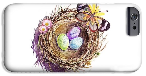 Easter Colors Bird Nest IPhone 6s Case by Irina Sztukowski