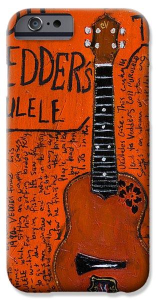 Eddie Vedder Ukulele IPhone 6s Case by Karl Haglund