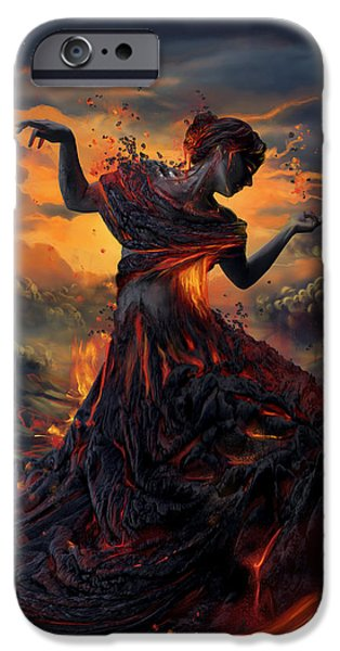 Pele iPhone 6s Case - Elements - Fire by Cassiopeia Art