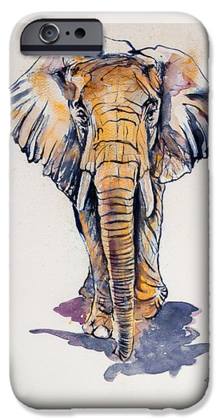 Elephant In Gold IPhone 6s Case by Kovacs Anna Brigitta