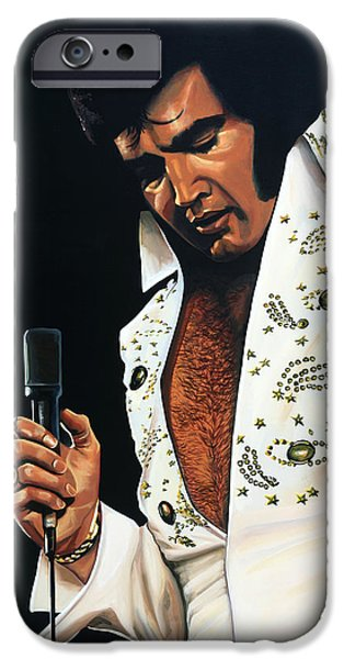 Rock And Roll iPhone 6s Case - Elvis Presley Painting by Paul Meijering