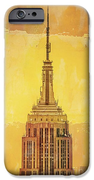 City Scenes iPhone 6s Case - Empire State Building 4 by Az Jackson