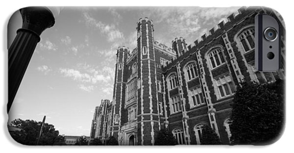 Evans Hall In Black And White IPhone 6s Case by Nathan Hillis