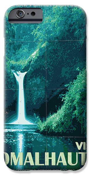 Aliens iPhone 6s Case - Exoplanet 04 Travel Poster Fomalhaut B by Chungkong Art