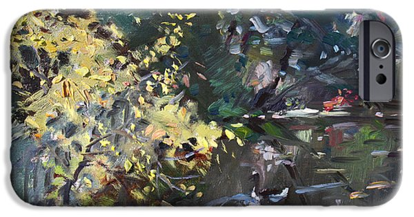 Geese iPhone 6s Case - Fall By The Pond by Ylli Haruni