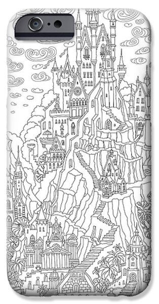 Castle iPhone 6s Case - Fantasy Landscape. Fairy Tale Castle On by L. Kramer