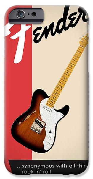 Guitar iPhone 6s Case - Fender All Things Rock N Roll by Mark Rogan