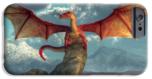 Fire Dragon IPhone 6s Case by Daniel Eskridge