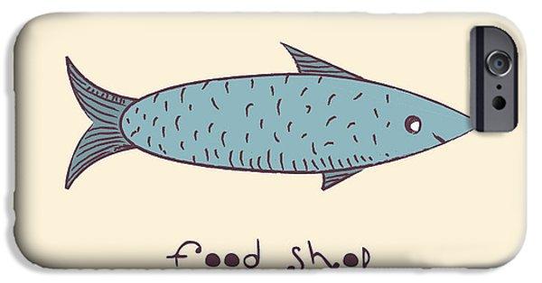 Aquarium iPhone 6s Case - Fish A Freehand Drawing  Logo Store Food by Natali Li